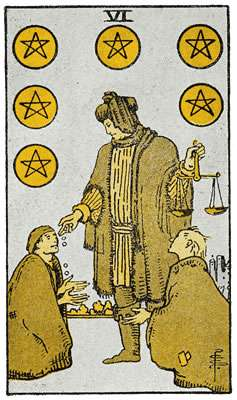 Six Of Pentacles Tarot Card Meaning Quantum Way Of Life Learn vocabulary, terms and more with flashcards, games and other study tools. six of pentacles tarot card meaning